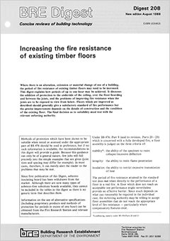 Increasing the fire resistance of existing timber floors <B>(Scanned copy)</B>