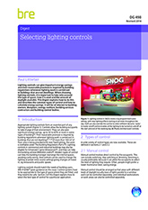 Selecting lighting controls (DG 498 2014) Downloadable version