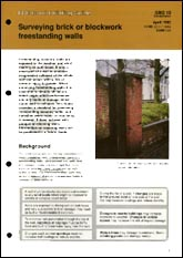 Surveying brick or blockwork freestanding walls<br><b>PDF DOWNLOAD</b>