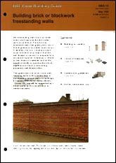Building simple plan brick or blockwork freestanding walls<br>(GG 14) <b>DOWNLOAD</b>