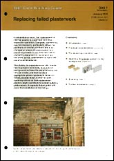 Replacing failed plaster<br><b>PDF DOWNLOAD</b>