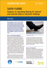 Safer floors - Guidance on specifying flooring for internal and external safety in domestic buildings  <B> (Downloadable version)</B>