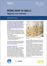 Rising damp in walls - diagnosis and treatment (revised ed.)  <B>(Downloadable version)</B>