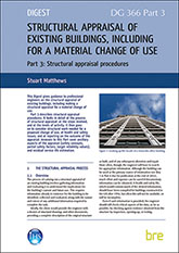 Structural appraisal of existing buildings, including for a material change of use: Part 3 Structural appraisal procedures - Downloadable version