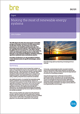 Making the most of renewable energy systems (DG 531)