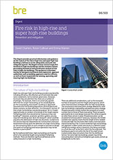 Fire risk in high-rise and super high-rise buildings: Prevention and mitigation (DG 533)