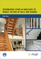 Refurbishing stairs in dwellings to reduce the risk of falls and injuries