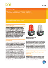 Visual alarm devices for fire: an introduction and guide to BS EN 54-23 <B>PDF Download</B>