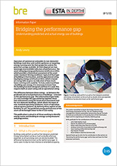 Bridging the performance gap: Understanding predicted and actual energy use of buildings (IP 1/15) DOWNLOAD