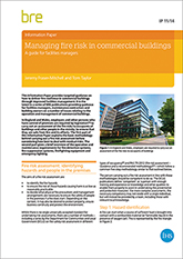 Managing fire risk in commercial buildings: A guide for facilities managers (IP 11/14)