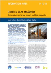 Unfired clay masonry: An introduction to low-impact building materials