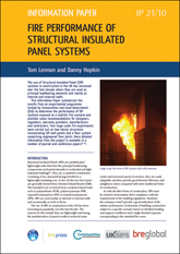 Fire performance of Structural Insulated Panel systems  <B>(Downloadable version)</B>