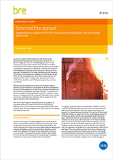 External fire spread  - Supplementary guidance to BR 187 incorporating probabilistic and time-based approaches<br> (IP 3/16) <b>DOWNLOAD</B>