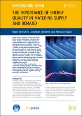 The importance of energy quality in matching supply and demand