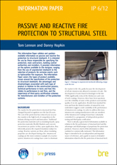 Passive and reactive fire protection to structural steel <b> Downloadable Version </b>
