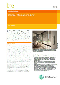 Control of solar shading (IP 4/17) DOWNLOAD