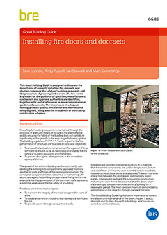 Installing fire doors and doorsets <BR>GG 86) <B>DOWNLOAD</B>