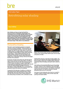 Retrofitting solar shading (IP 3/17) DOWNLOAD