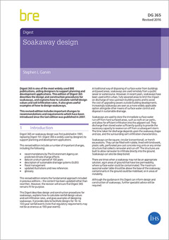 Soakaway design<BR> (DG 365 - 2016) <B>DOWNLOAD</B>